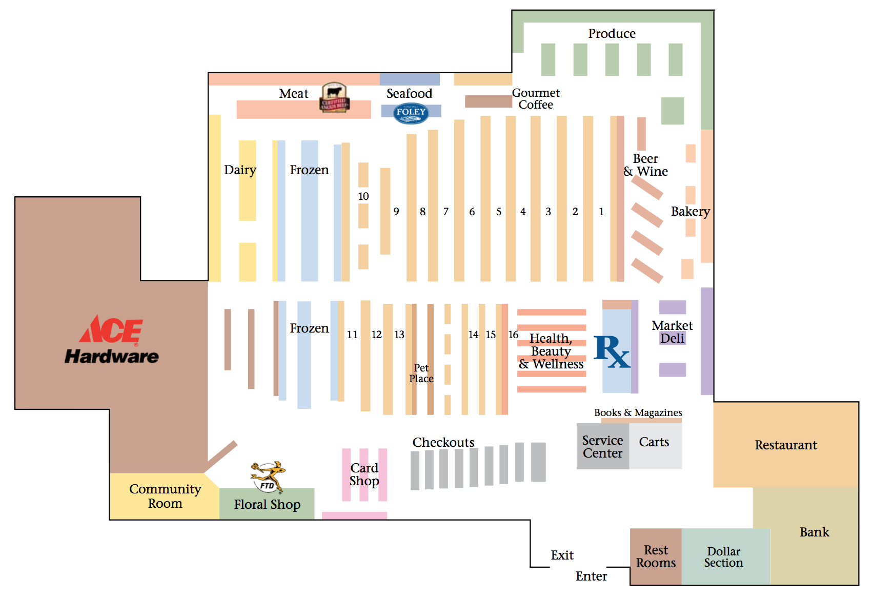 Dover Store Map