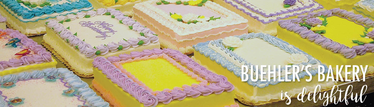 Custom decorated cakes from Buehler's
