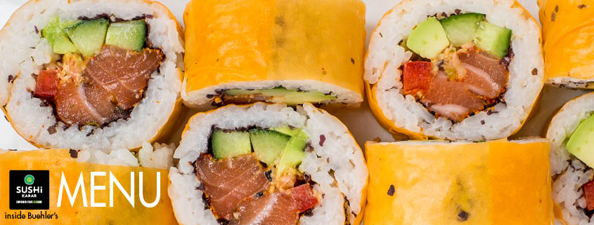 Buehler's Sushi Menu