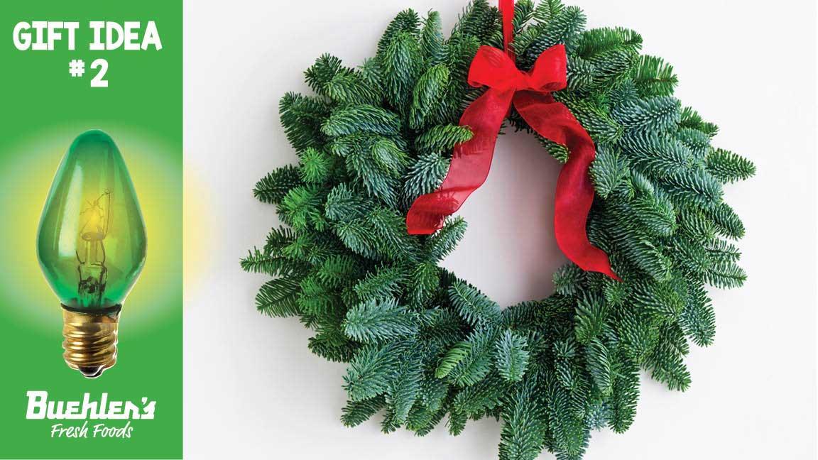 Buehler's fresh holiday wreath