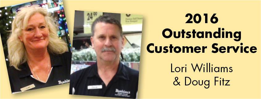 Outstanding Customer Service Award winners