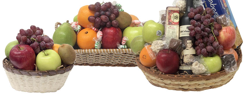 Fruit baskets are a thoughtful gift throughout the year
