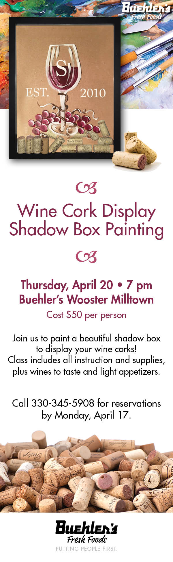 Shadow Box for Wine Corks
